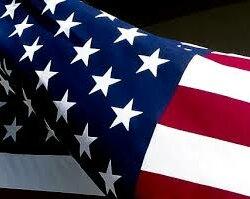 Die amerikanische Nationalflagge