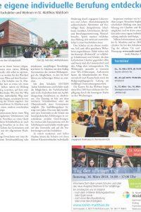 Beitrag der Münchner Kirchenzeitung zum Tag der offenen Tür in St. Matthias