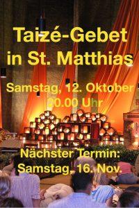 Taizé-Gebet in St. Matthias