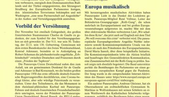 """Die Zeitschrift der Paneuropa-Union """"Paneuropa intern"""" in ihrer Dezember-Ausgabe vom 03.12.2020"""
